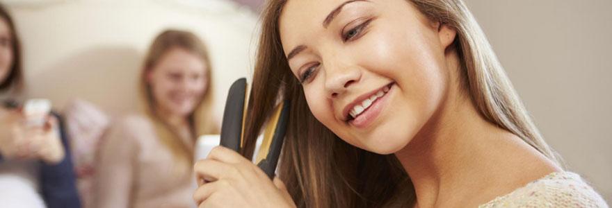 lisser les cheveux